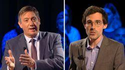 """""""Hoe ga je dat doen? Je zegt niets"""": Jan Jambon in debat met Kristof Calvo"""