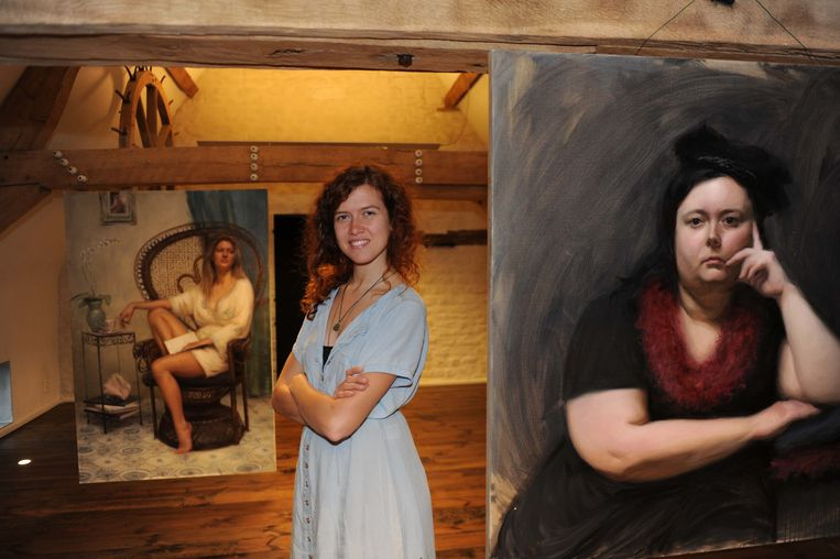 Ellen Marie stelt haar werken dit en komend weekend tentoon in de Camme in Perk.
