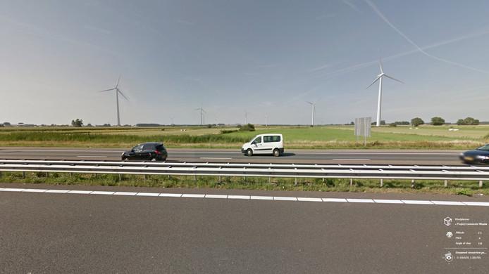 Een impressie van het nieuwe windmolenplan op Haven Acht in Waalwijk.