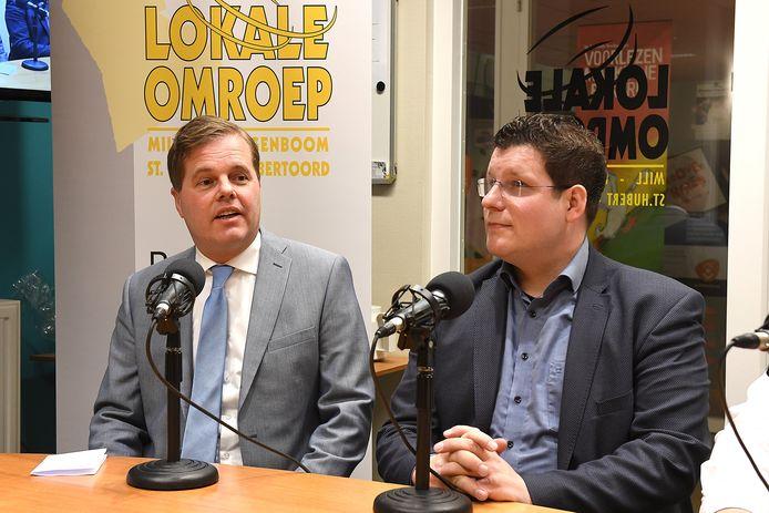 Burgemeester Antoine Walraven van Mille (links) naast CDA-fractievoorzitter Mark Janssen-van Gaal.