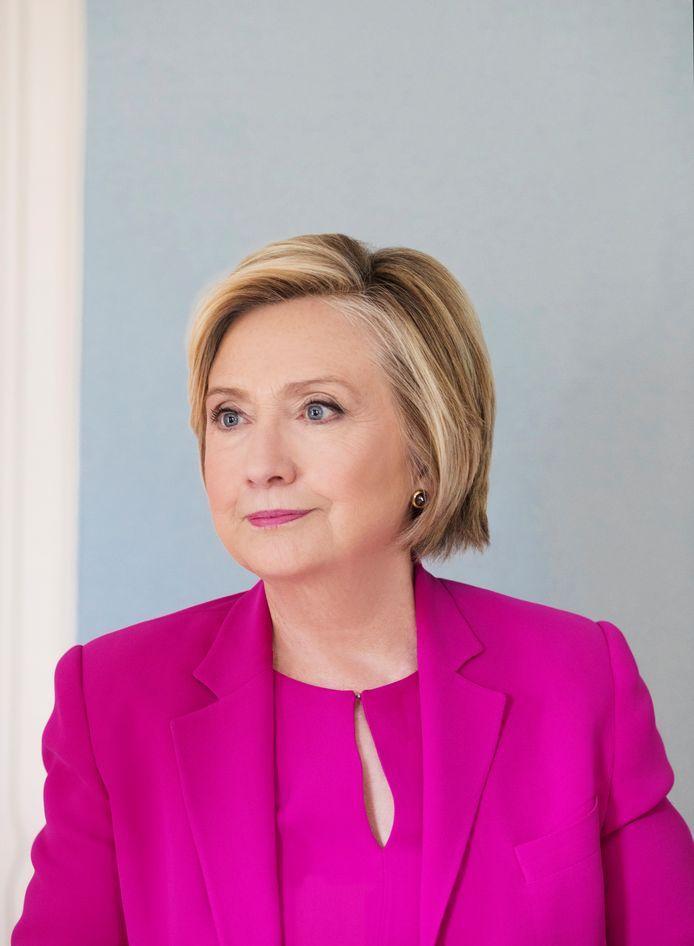 Hillary Clinton in september 2017 tijdens een fotosessie voor het blad Paris Match