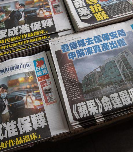 Prodemocratische krant Hongkong sluit de deuren na grote politie-inval