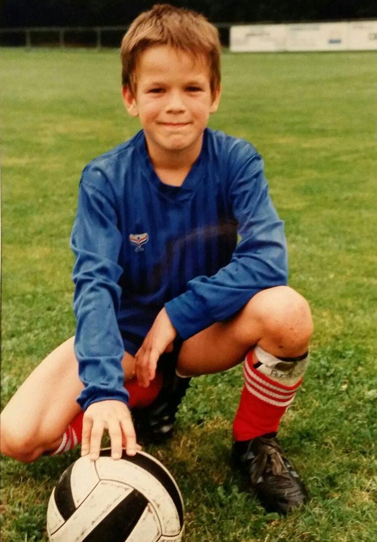 Johan Gerets toen hij nog droomde van een carrière bij AC Milan.