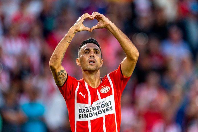Eran Zahavi is met drie treffers goud waard voor PSV