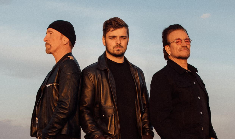 The Edge, Martin Garrix en Bono, het schurkentrio achter het EK-lied. Beeld Garrix