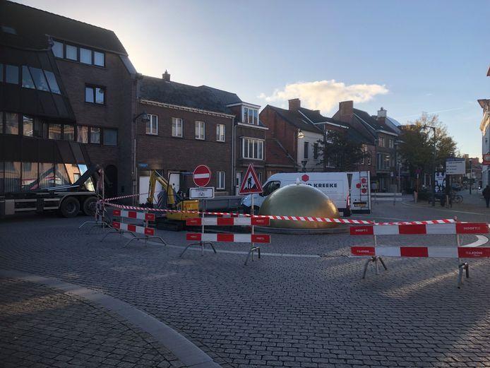 De rotonde aan de 'Tet van Turnhout'.