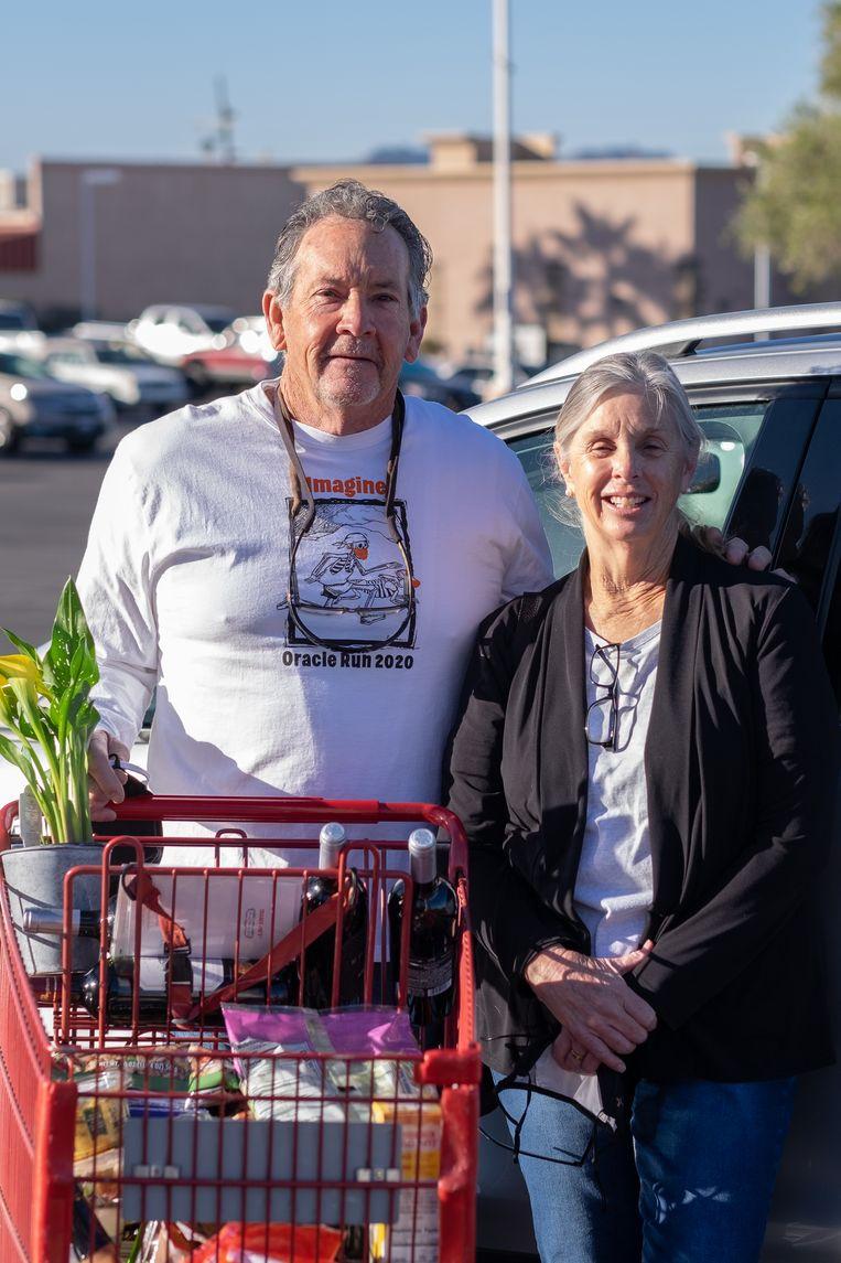 Rachel Opinsky met haar man Michael.  Beeld Eline van Nes