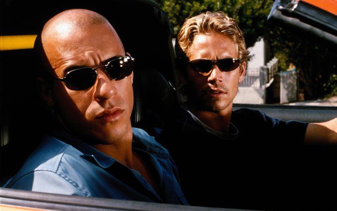Vin Diesel en Paul Walker in 'The Fast and the Furious'