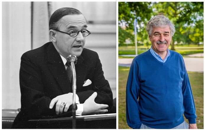 Piet de Jong, op de foto aan het woord in de Tweede Kamer, en Hans Wegman.