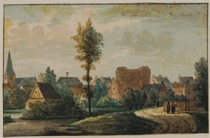 Zicht op Huissen in 1732.
