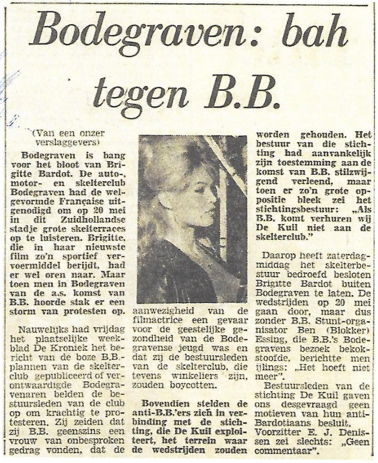 Artikel in Het Vrije Volk van 17 april 1961.
