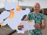 KAART | Twaalf gemeenten in Oost-Nederland zonder nieuwe besmettingen, IJsselland scoort licht tegen trend in