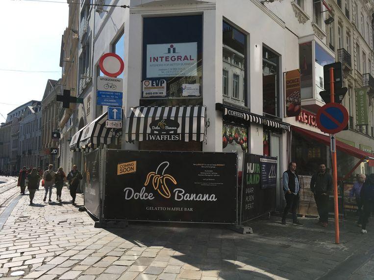 Heel binnenkort open: wafel- en ijshuis Dolce Banana.