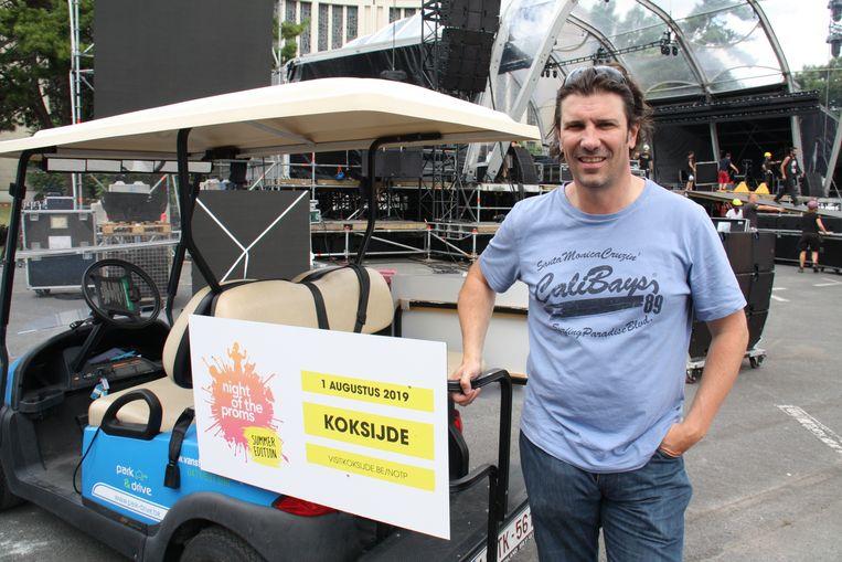 Evenementenmanager Peter Bruneel zorgt dat alles op wieltjes verloopt voor de eerste zomereditie van The Night of the Proms in Koksijde