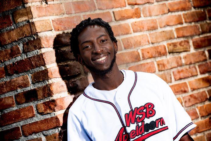 Honkballer Eddee Brooks komt van Sint Maarten waar hij het honkbal met de paplepel kreeg ingegoten.