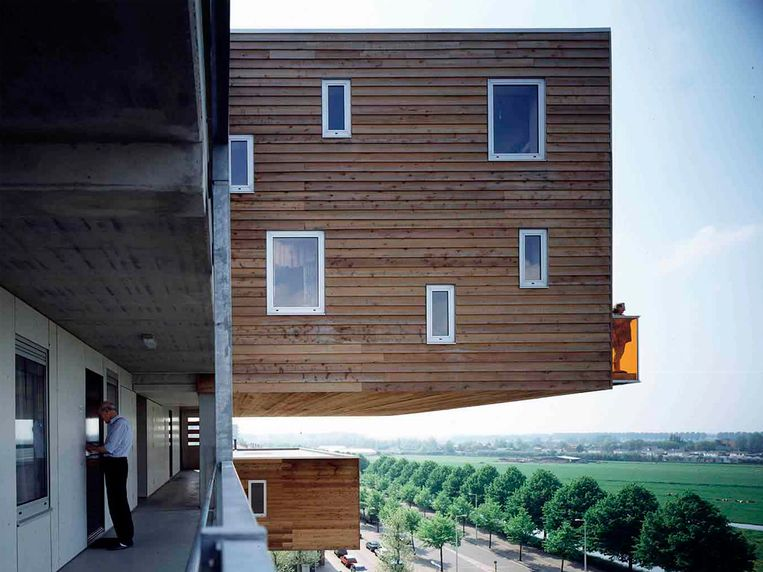 Hangwoningen in Amsterdam-Osdorp. Beeld MVRDV architecten