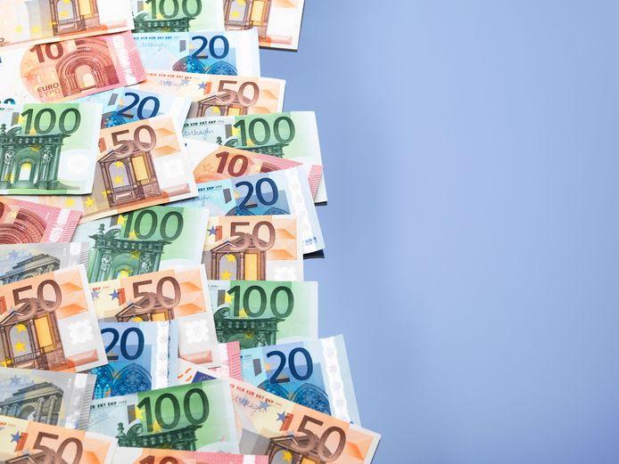 stock geld biljetten begroting euro's