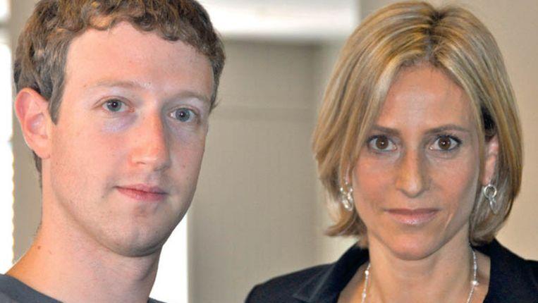 Mark Zuckerberg geeft zelden interviews, maar Newsnight-gezicht Emily Maitlis wist hem te strikken voor een goed gesprek. Beeld UNKNOWN