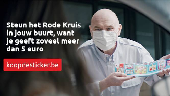 Rode Kruis Maarkedal verkoopt stickers om werking te kunnen uitbreiden