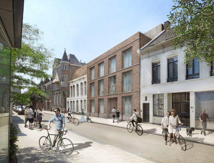 Dit ontwerp, gemaakt voor de Stadsontwikkelingsmaatschappij, werd geschrapt.