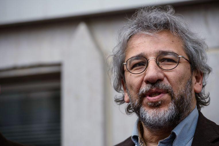 Can Dündar, de voormalige hoofdredacteur van de regeringskritische krant 'Cumhuriyet' Beeld AFP