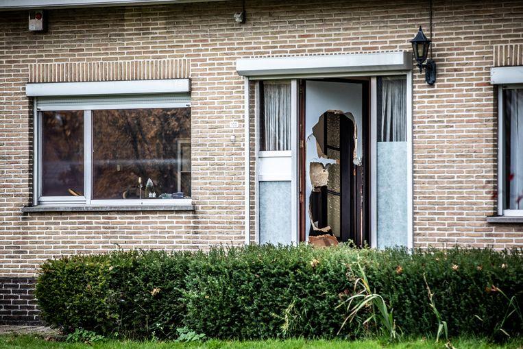 Wietplantage ontdekt in Zutendaal aan de Kempenseweg.
