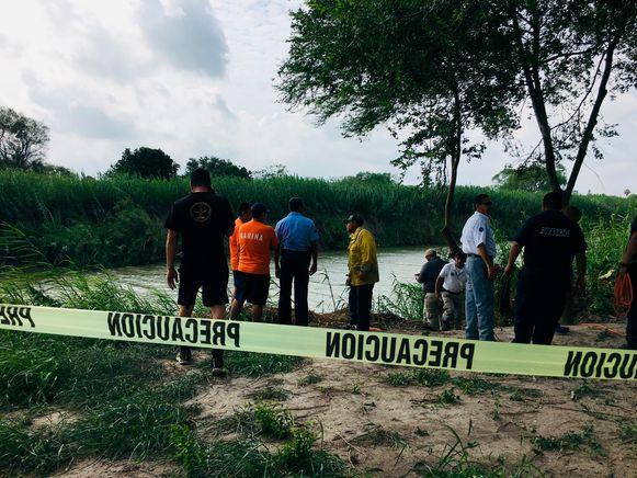 De Rio Grande, waar de lichamen van Martínez en zijn dochtertje werden gevonden.