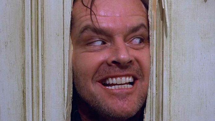 De bewuste, iconische foto van Jack Nicholson als Jack Torrance in horrorklassieker 'The Shining'.