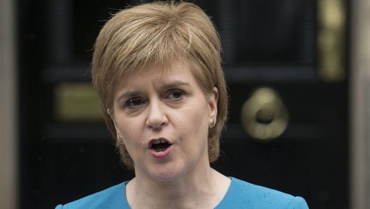 De Schotse premier Nicola Sturgeon. Beeld AFP