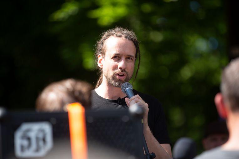 Willem Engel tijdens een evenement in Brussel in mei. Beeld BELGA