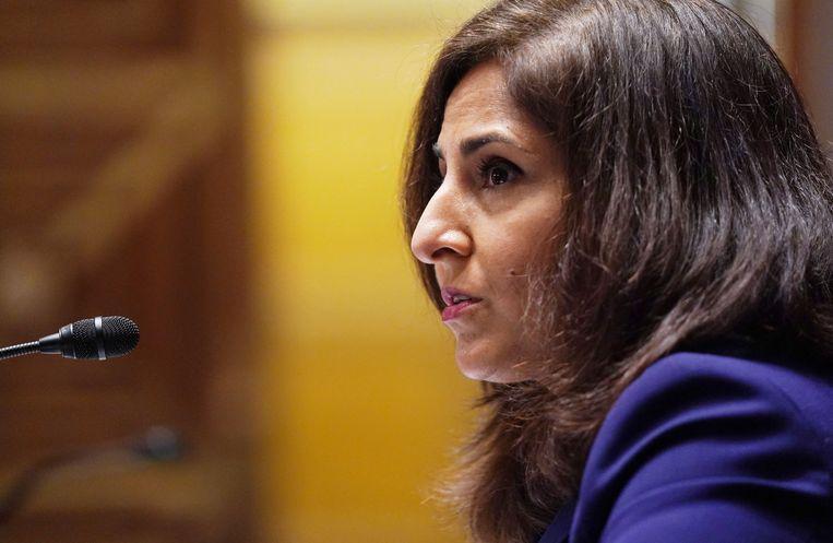 De kandidatuur van Neera Tanden als hoofd van het Bureau voor Management en Budget in het Witte Huis is door Biden weer ingetrokken. Beeld AFP