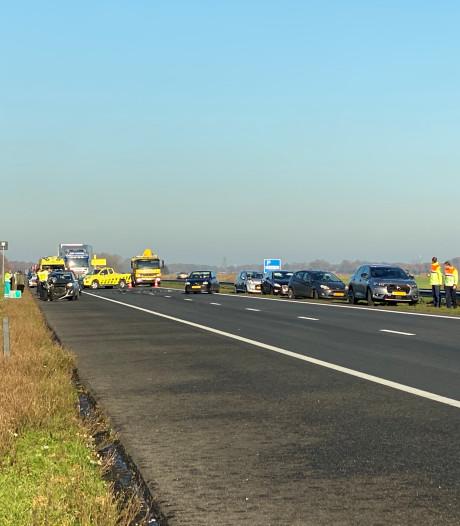 A28 weer vrij na kettingbotsing met vier auto's bij Putten