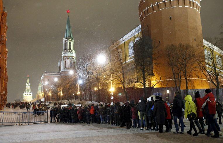 Gisteren mochten mensen nog wel het Rode Plein betreden, maar enkel na een securitycheck. Beeld EPA