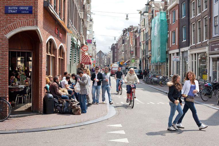 CC op de hoek Haarlemmerdijk/Buiten Oranjestraat, 2009.  Beeld ANP / Thomas Schlijper