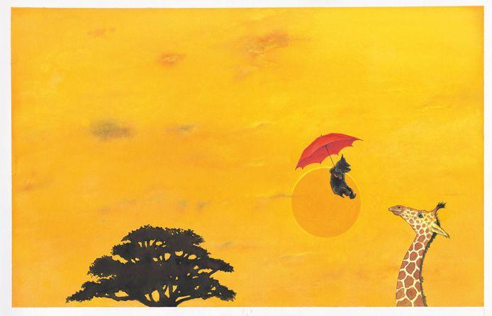 Beeld uit 'De Paraplu' van Ingrid en Dieter Schubert.