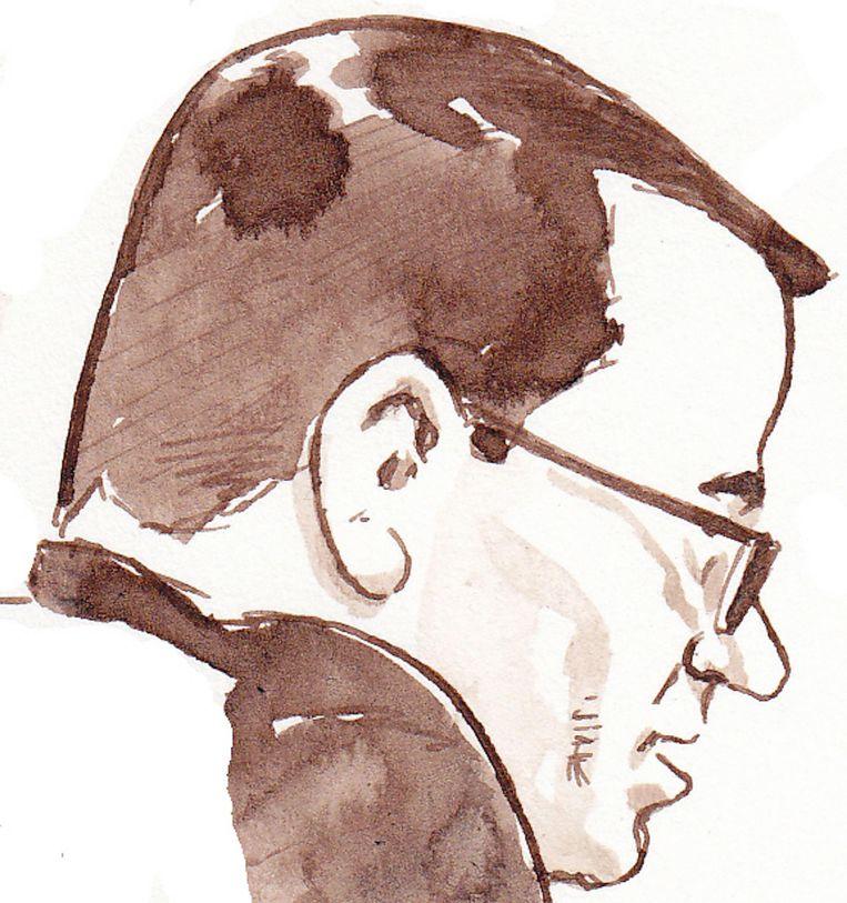 Een rechtbanktekening van Dino Soerel. Beeld anp