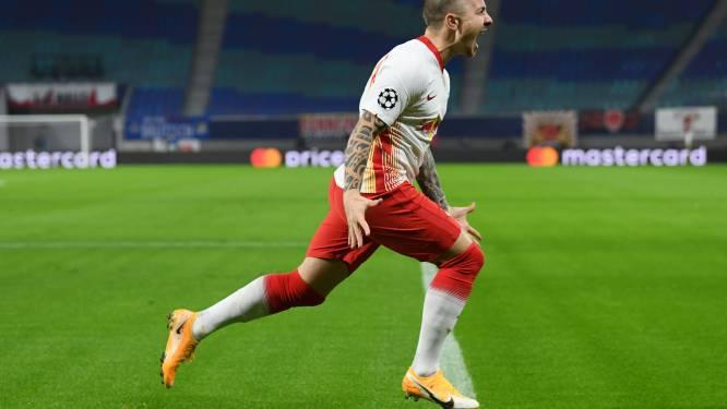 Leipzig rekent thuis af met Manchester United en gaat zo naar achtste finales ten koste van Engelsen