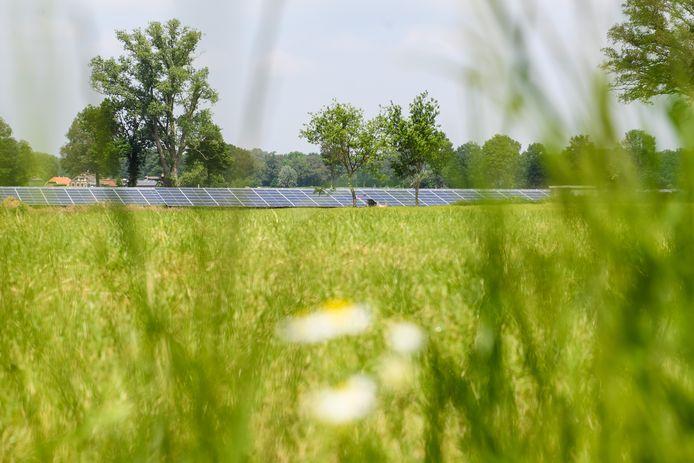 Het omstreden zonnepark aan de Brokersweg in Geesteren.