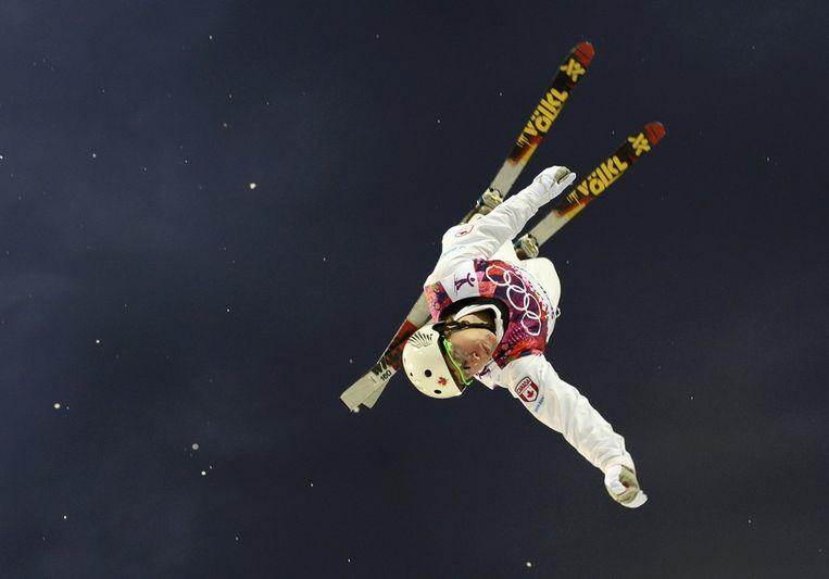 Travis Gerrits tijdens de aerials voor mannen Beeld reuters
