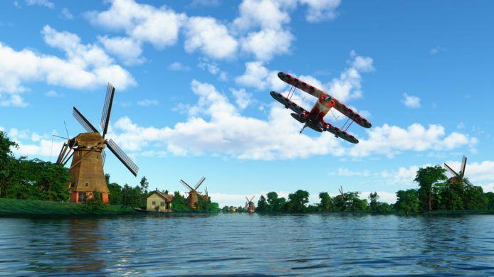 """Microsoft maakte ook een wat gedetailleerder model van Nederland. """"Iedere windmolen in de game staat er ook in het echt."""""""