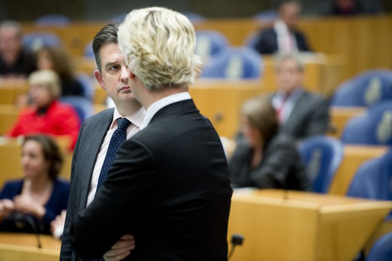 Roemer en Wilders in de Tweede Kamer. Beeld ANP