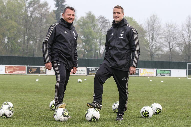 De Italiaanse coaches Vincenzo De Caro en Davide Zappaterra.