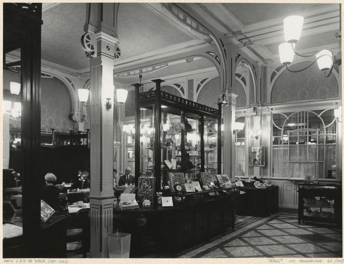 De tearoom van Krul aan het Noordeinde.