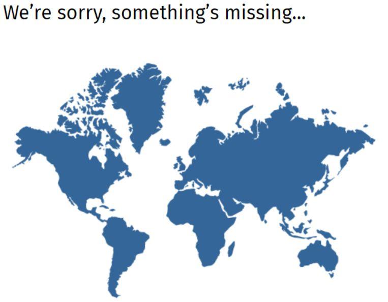 De Nieuw-Zeelandse regering plaatste deze kaart op de 'Not found'-pagina van haar website. Beeld NZ govt