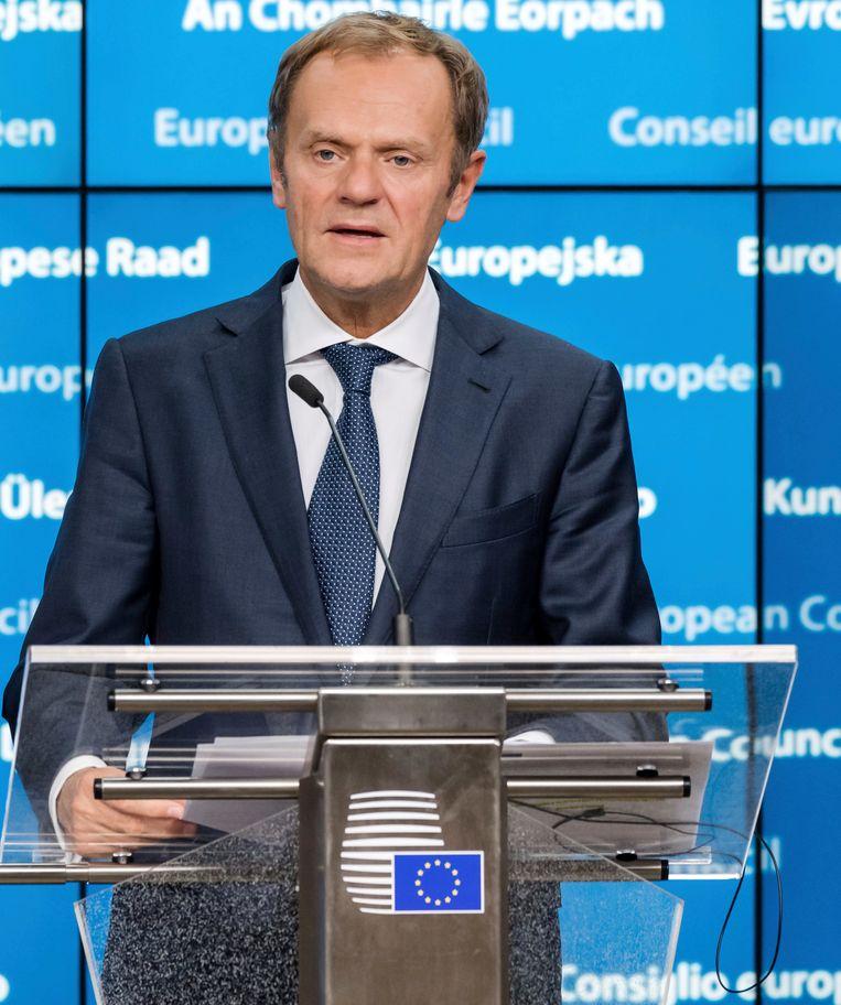 Donald Tusk, de voorzitter van de Europese Raad. Beeld AP