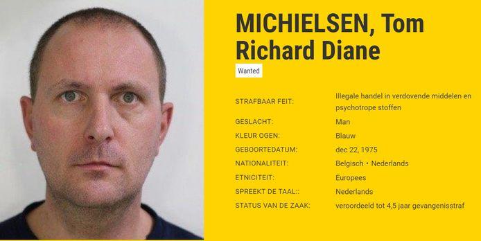 Vlaming Tom Michielsen staat nu op de Most Wanted-lijst van Europol.