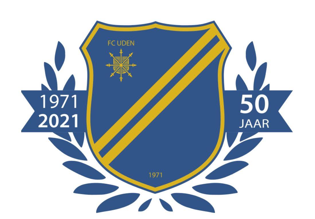 Het speciale logo vanwege het jubileum van de club.