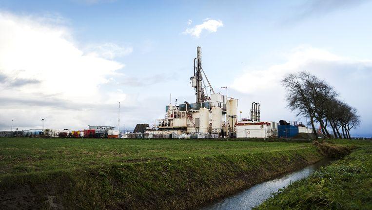 Een meetlocatie waar de NAM de bodemdaling door de gaswinning kan meten Beeld anp
