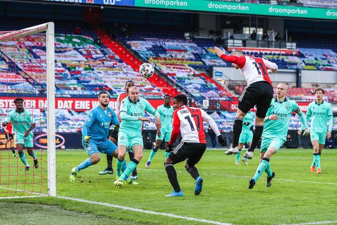 De 2-0 van Bryan Linssen maakte een einde aan het verzet van Willem II.