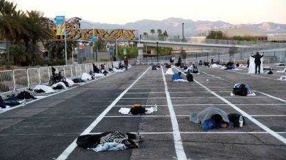 """Openluchtparking in Las Vegas wordt tijdelijke daklozenopvang """"terwijl 150.000 hotelkamers leeg staan"""""""